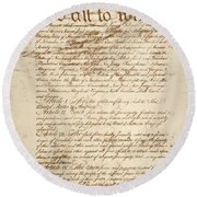 Articles Of Confederation Round Beach Towel
