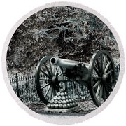Artillery At Pickettes Charge Round Beach Towel