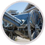Artillery In Front Of The Armory Round Beach Towel