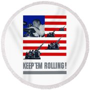 Artillery -- Keep 'em Rolling Round Beach Towel