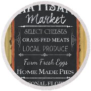 Artisan Market Sign Round Beach Towel