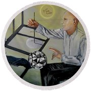 Artist And Muse Round Beach Towel