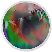 Artistic Frost Round Beach Towel