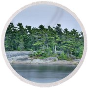 Artistic Granite And Trees  Round Beach Towel