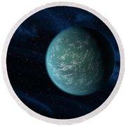 Artists Concept Of Kepler 22b, An Round Beach Towel by Stocktrek Images