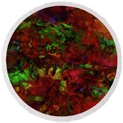 Artists Foliage Round Beach Towel
