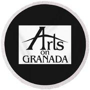 Arts On Granada Round Beach Towel