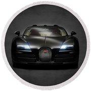 Bugatti Veyron Round Beach Towel