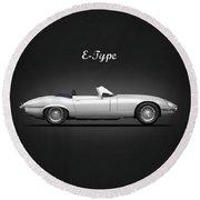 Jaguar E Type Round Beach Towel