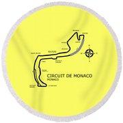 Circuit Of Monaco Round Beach Towel