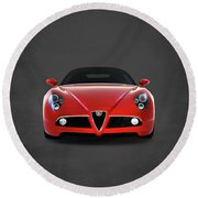 Alfa Romeo 8c Round Beach Towel