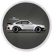 The 911 Turbo 1984 Round Beach Towel