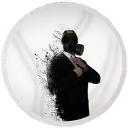 Dissolution Of Man Round Beach Towel