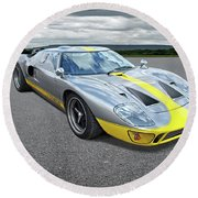 Power And Performance - Ford Gt40 Round Beach Towel
