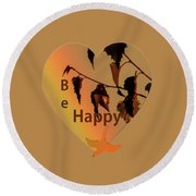 Rainbow And Copper Round Beach Towel