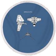 Star Wars - Shuttle Patent Round Beach Towel