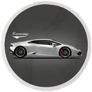 The Lamborghini Huracan Round Beach Towel