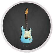 Fender Stratocaster 64 Round Beach Towel by Mark Rogan