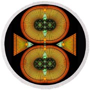 Cosmic Mitosis Round Beach Towel