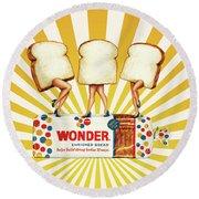 Wonder Women Round Beach Towel