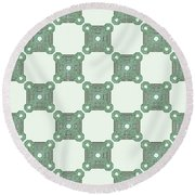 Reims - The Green Path Round Beach Towel