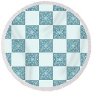 St Omer - Blues Round Beach Towel