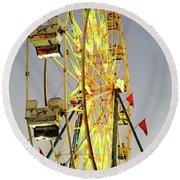Wheel Of Fortune Round Beach Towel