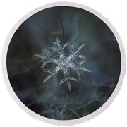 Snowflake Photo - Rigel Round Beach Towel
