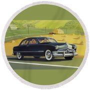 1950 Custom Ford - Square Format Image Picture Round Beach Towel