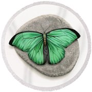 Mito Awareness Butterfly- A Symbol Of Hope Round Beach Towel