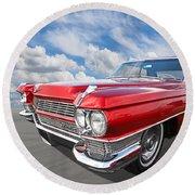 Classy - '64 Cadillac Round Beach Towel