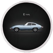 The E Type Round Beach Towel