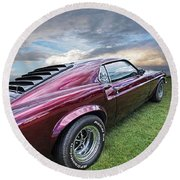Rich Cherry - '69 Mustang Round Beach Towel