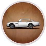 The Aston Martin Db5 Round Beach Towel