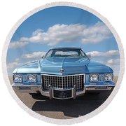 Seventies Superstar - '71 Cadillac Round Beach Towel