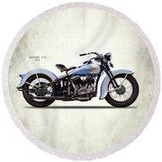 Harley Model Vd 1935 Round Beach Towel