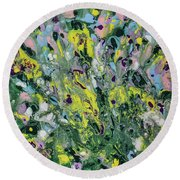 The Feeling Of Spring Round Beach Towel