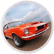 Shelby Gt500kr 1968 Round Beach Towel