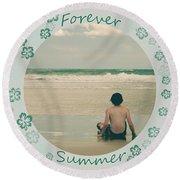 Forever Summer 7 Round Beach Towel