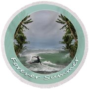 Forever Summer 2 Round Beach Towel