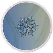 Snowflake Photo - Flying Castle Alternate Round Beach Towel