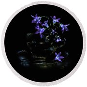Bluebells Round Beach Towel by Alexey Kljatov