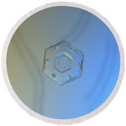 Snowflake Photo - Cryogenia Round Beach Towel