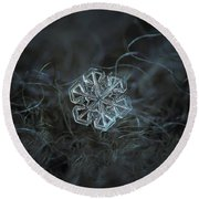 Snowflake Photo - Alcor Round Beach Towel by Alexey Kljatov