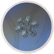 Snowflake Photo - High Voltage Round Beach Towel by Alexey Kljatov