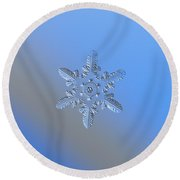 Snowflake Photo - Heart-powered Star Alternate Round Beach Towel by Alexey Kljatov