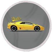 Lamborghini Diablo 88 Round Beach Towel