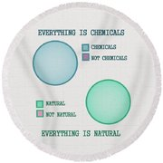Everything Is Round Beach Towel