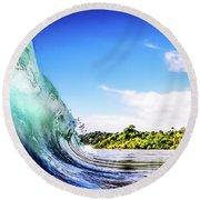 Tropical Wave Round Beach Towel