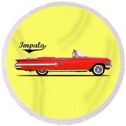 Chevrolet Impala 1960 Round Beach Towel